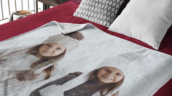 Cosy photo blanket