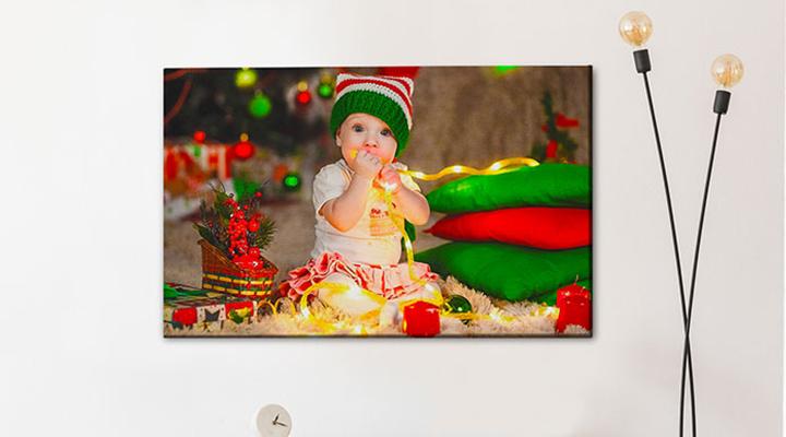 Christmas photo canvas