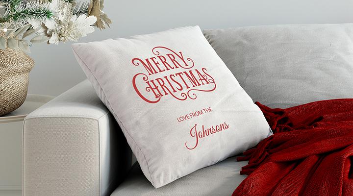 Merry Christmas Personalised Cushion