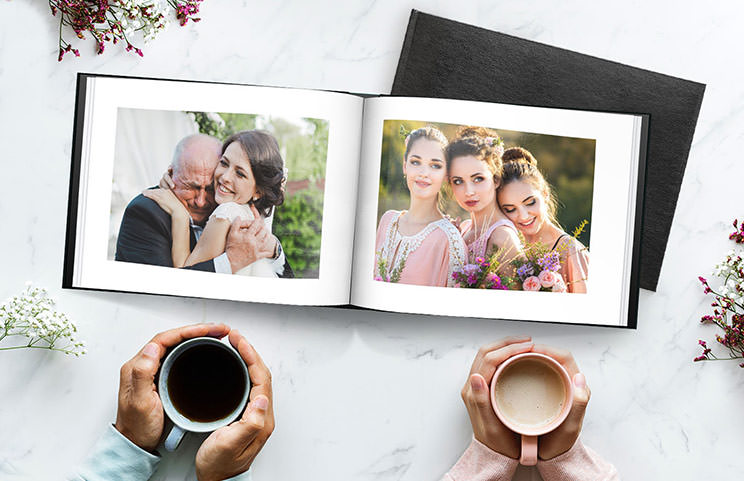 Wedding and bride photos in custom printed photo album by Printerpix