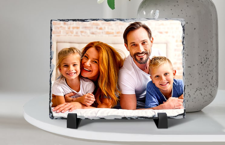 Personalised gift Stone with printed image